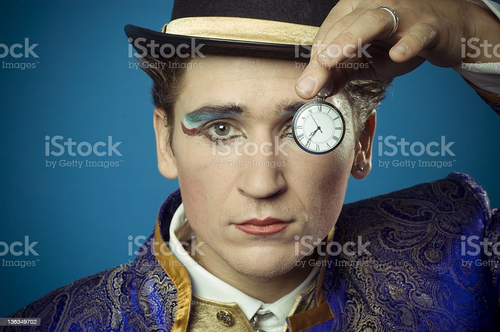 man and time stock photo
