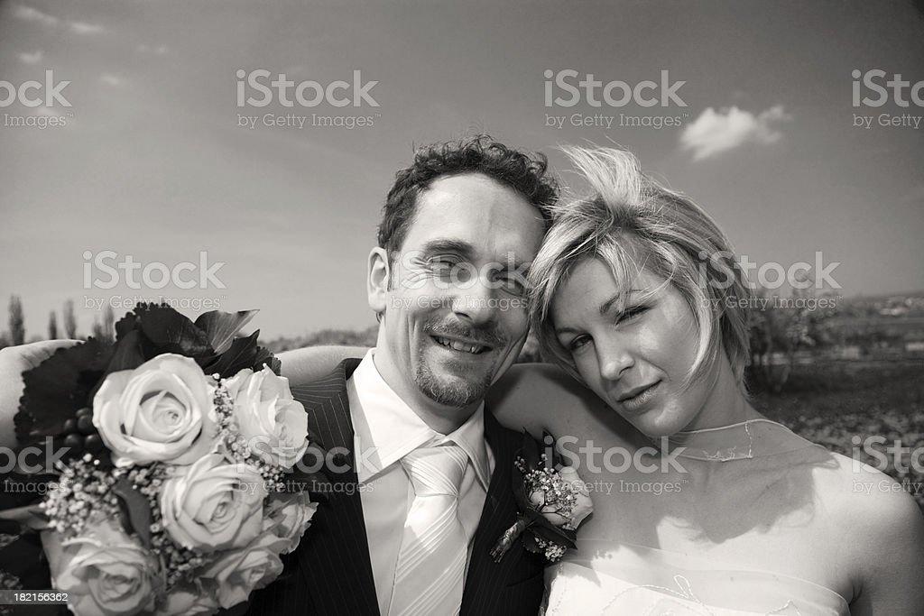 man and woman bw royalty-free stock photo
