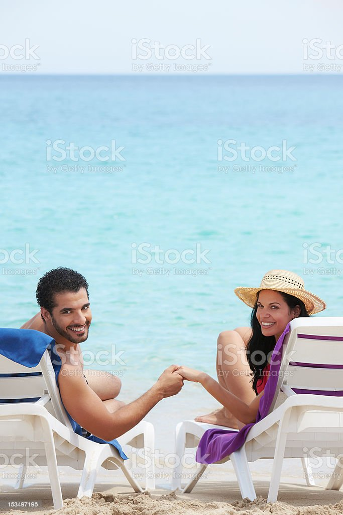 man and woman doing honeymoon in cuba royalty-free stock photo