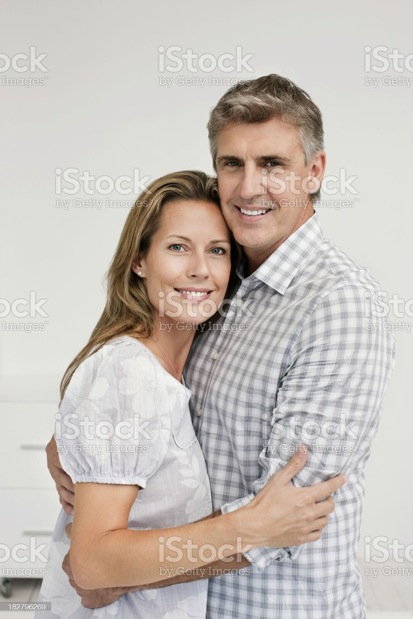 Man and Woman Embracing royalty-free stock photo