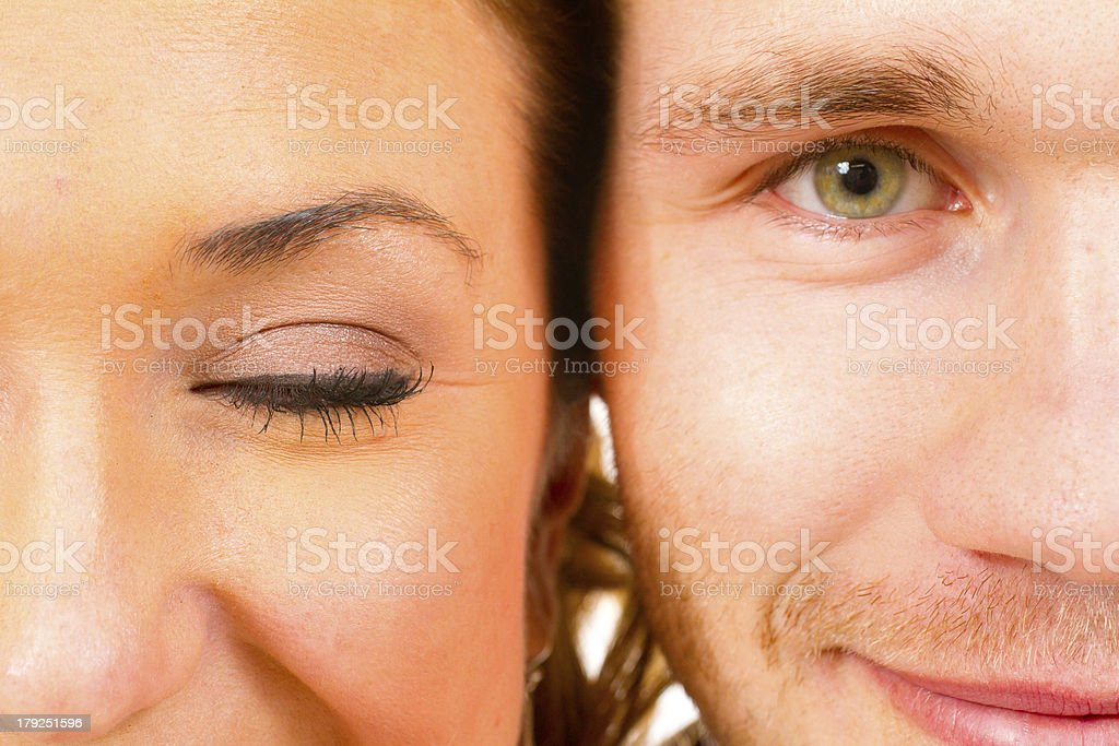 Man and Woman Face stock photo