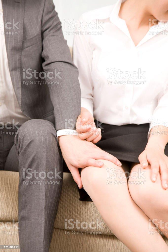 Man and Woman Flirting stock photo