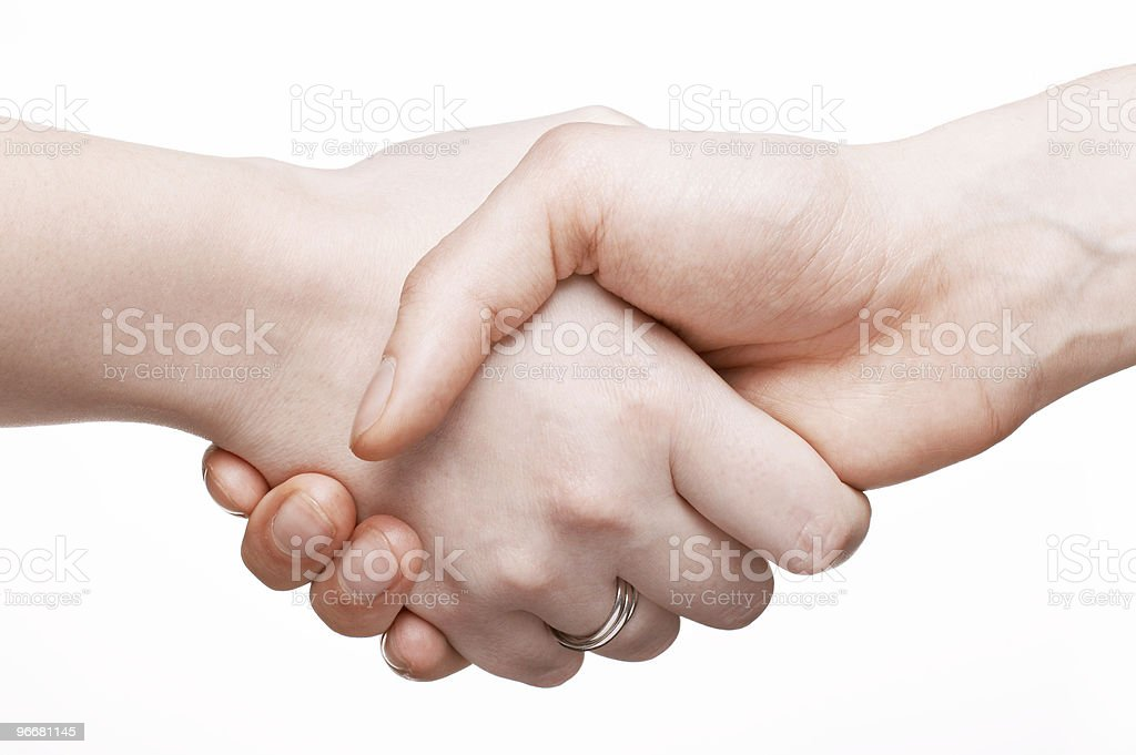 Man and woman hands royalty-free stock photo