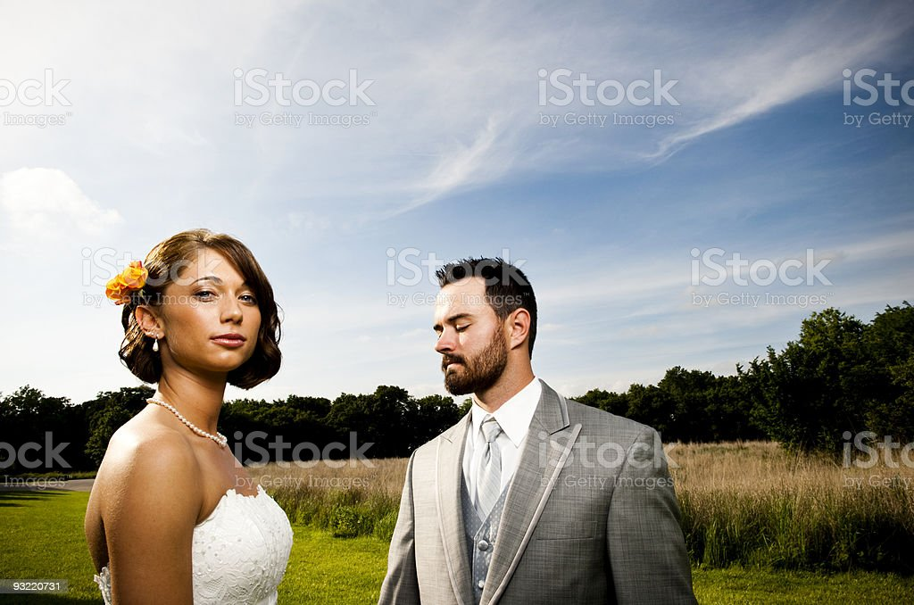 Man and woman in formal clothes royalty-free stock photo