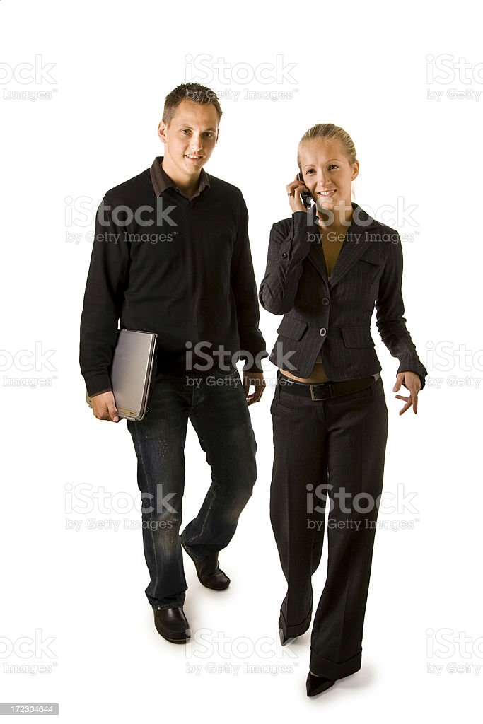 Man and woman isloated on white royalty-free stock photo