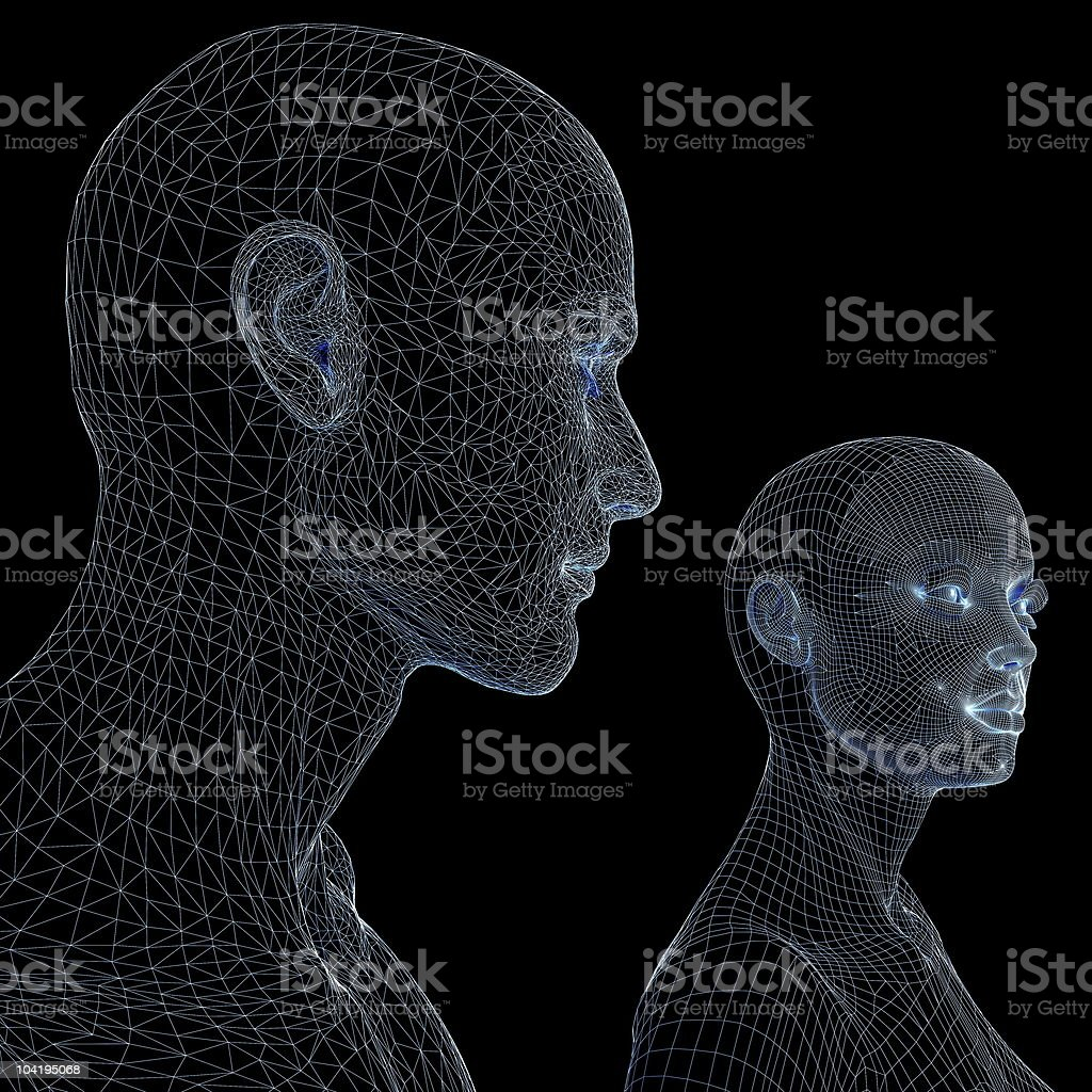 Man and woman mannequins royalty-free stock photo