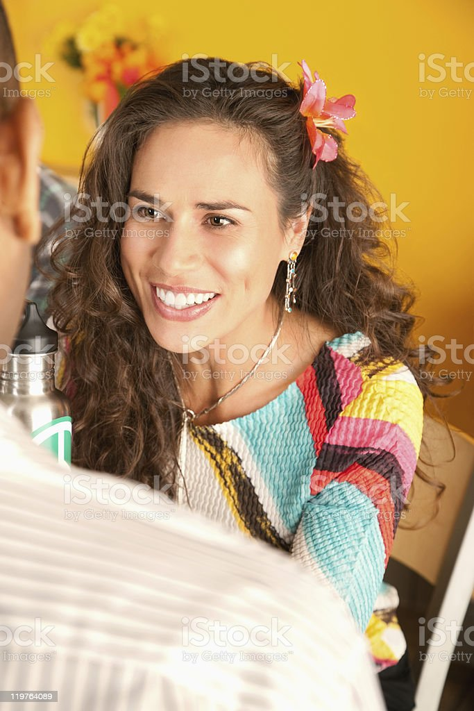 Man and Woman on Date royalty-free stock photo