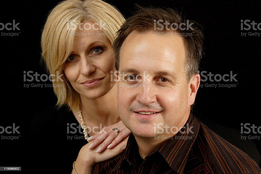man and woman portrait royalty-free stock photo
