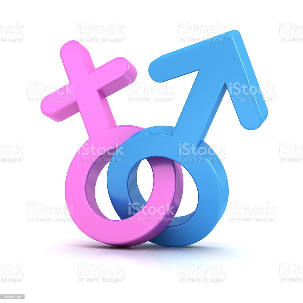 man and woman sign royalty-free stock photo