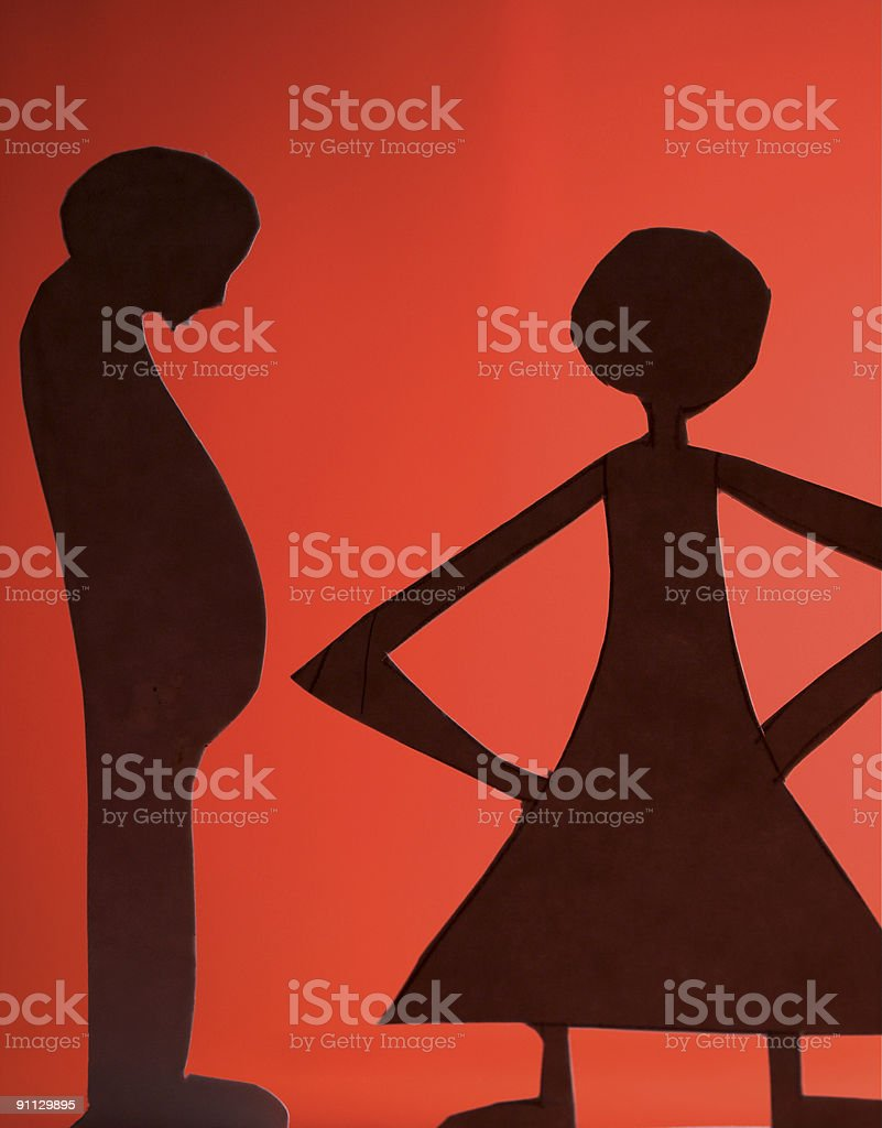 man and woman silhouette royalty-free stock photo