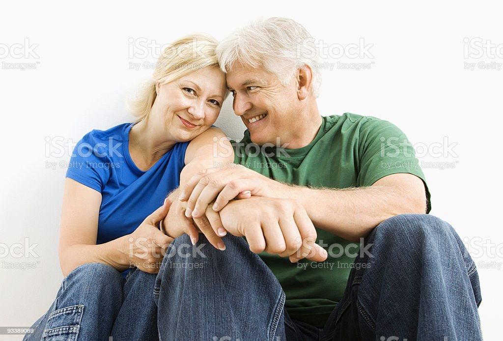 Man and woman snuggling. royalty-free stock photo