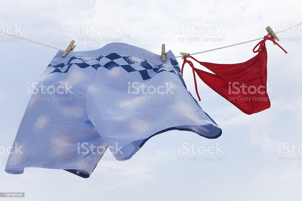 Man and woman swimming wear royalty-free stock photo