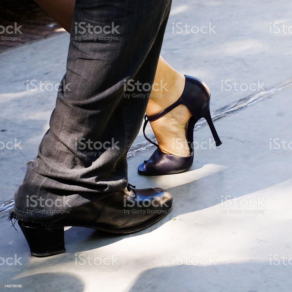 Man and woman - tango stock photo