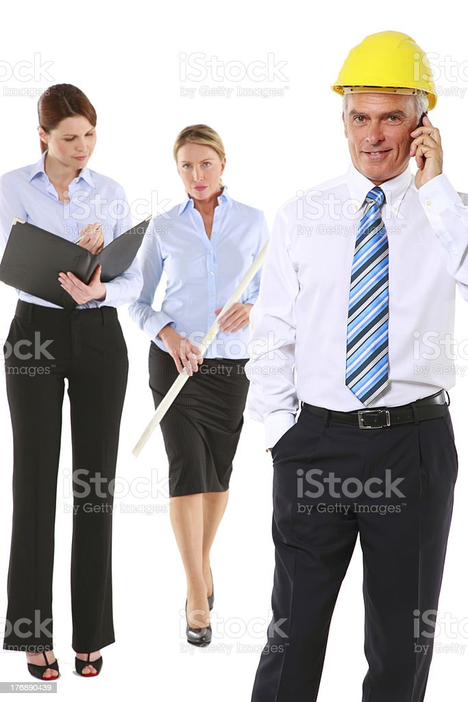 man and women architects royalty-free stock photo