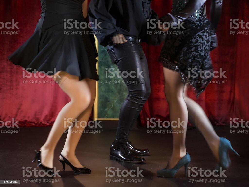 Man And Women Dancing. stock photo