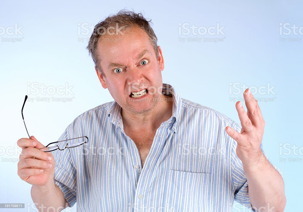 Man Angry about Something stock photo