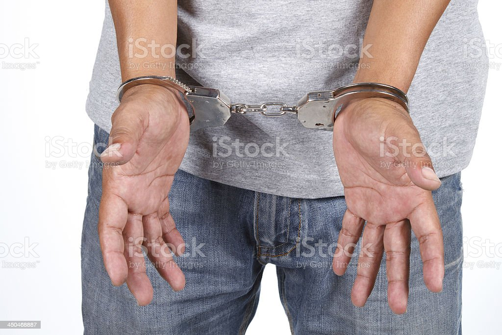 Man arrested royalty-free stock photo