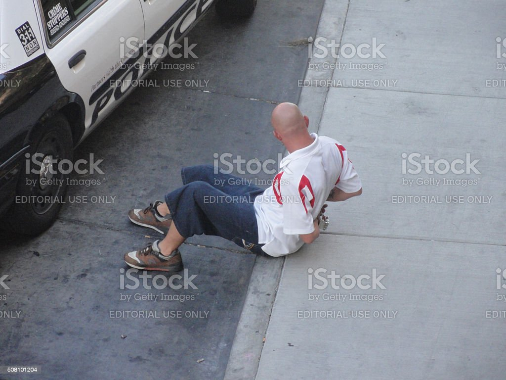 Man Arrested stock photo