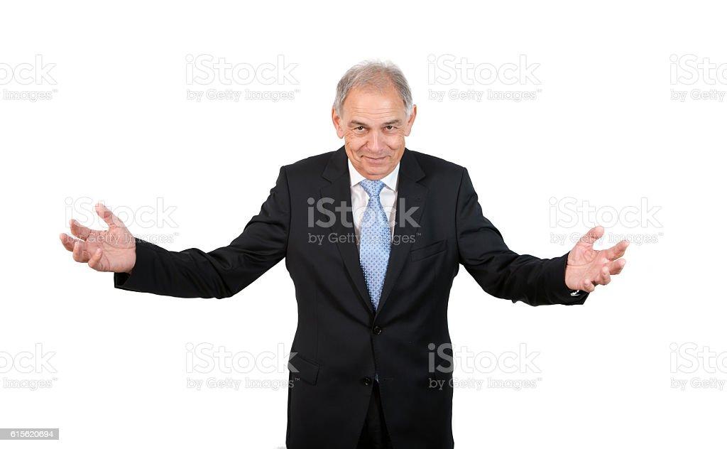 Man as an official, representative, advocate or reseller stock photo