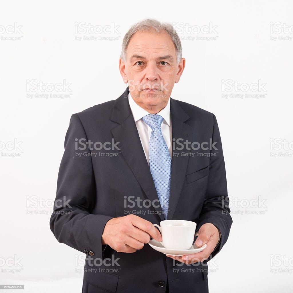 Man as an official, representative, agent or salesman stock photo