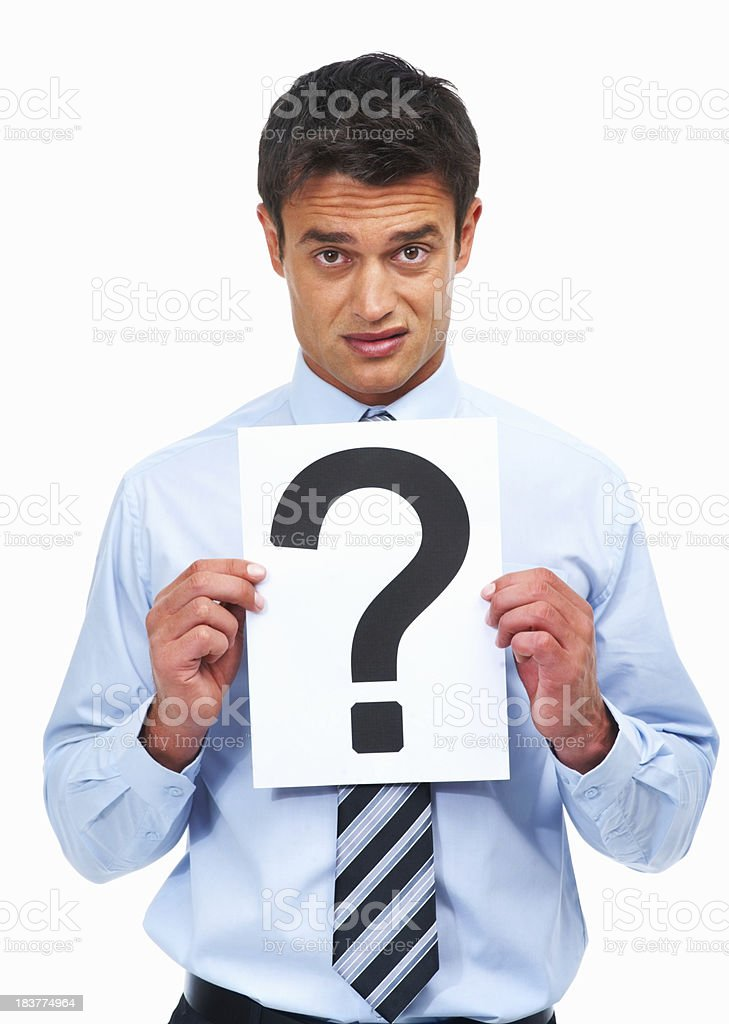 Man asking for assistance royalty-free stock photo