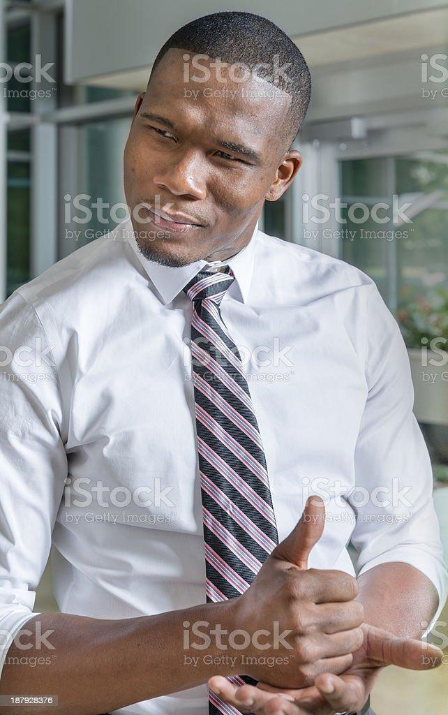 Man asking for help using ASL royalty-free stock photo