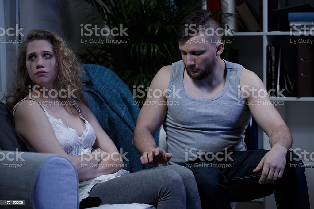 Man asking forgiveness stock photo