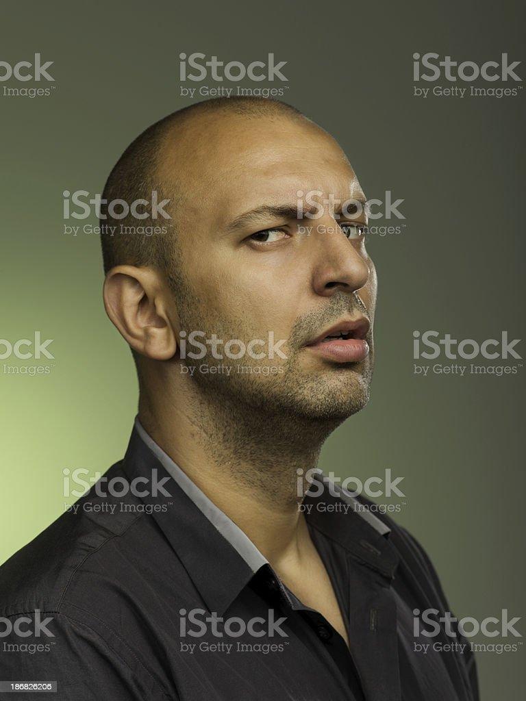 Uomo chiedendo ostile foto stock royalty-free
