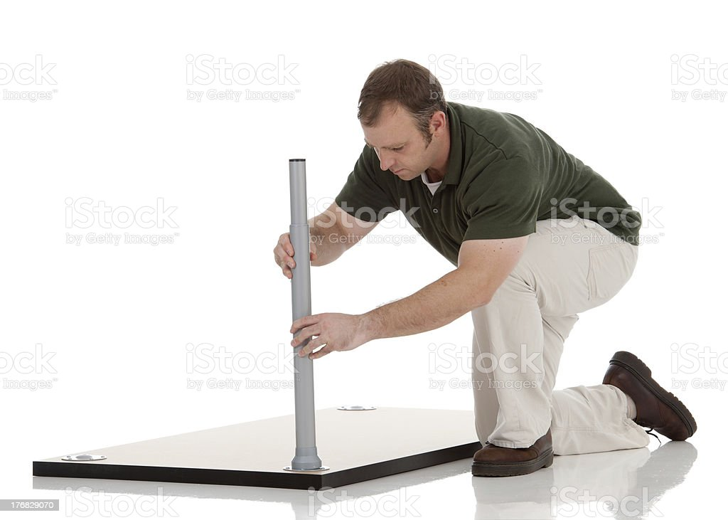 Man Assembling a Table stock photo