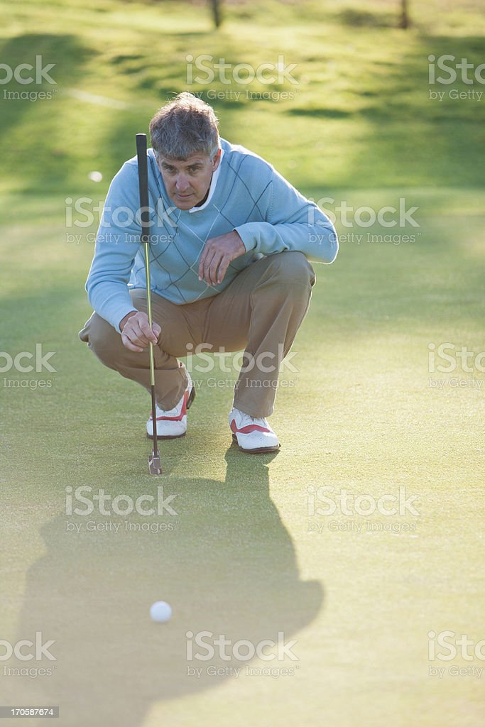 Man assessing play on golf course royalty-free stock photo