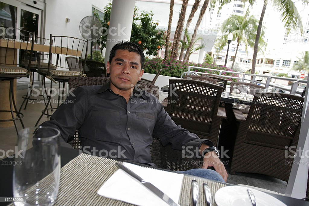 Man at a restaurant royalty-free stock photo