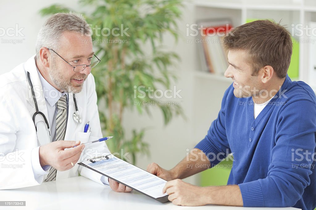 Man at doctor's office. royalty-free stock photo