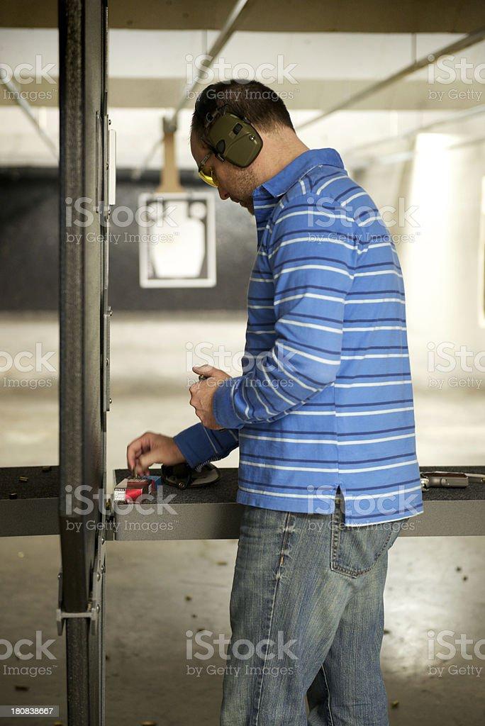 Man at Pistol Range royalty-free stock photo