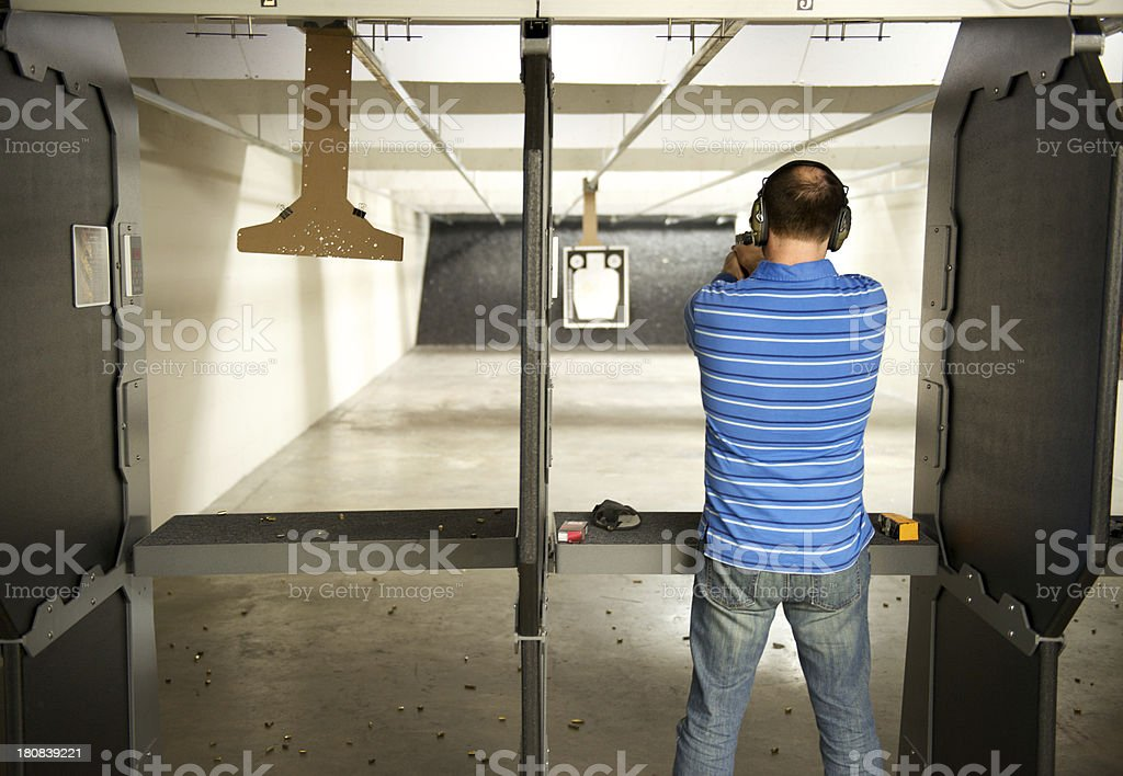Man at Pistol Range royalty-free stock photo