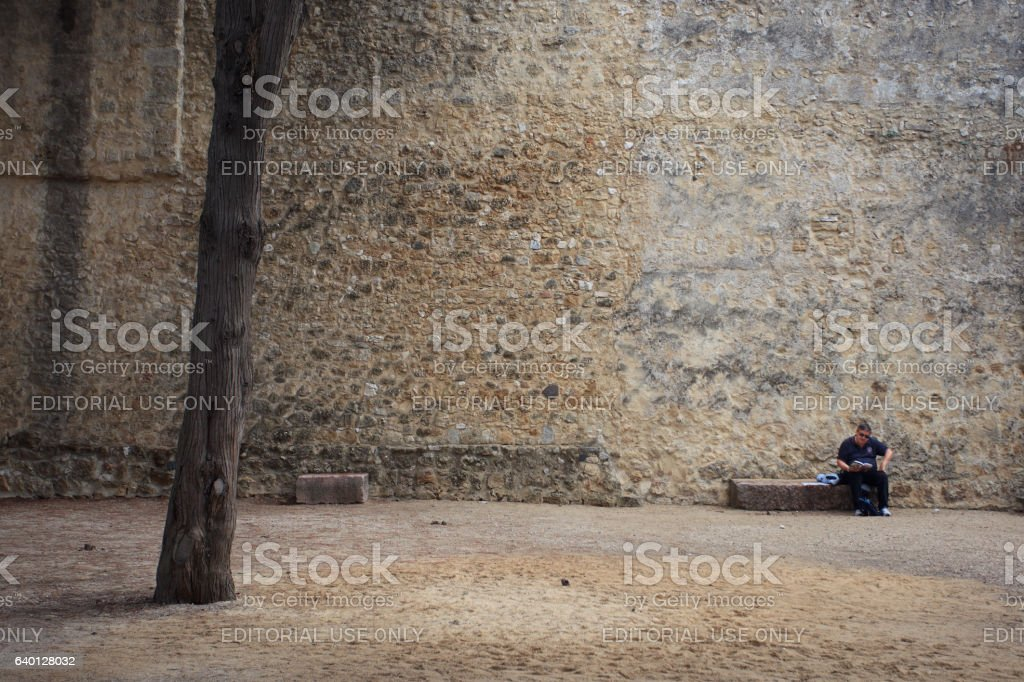 Man at rest stock photo