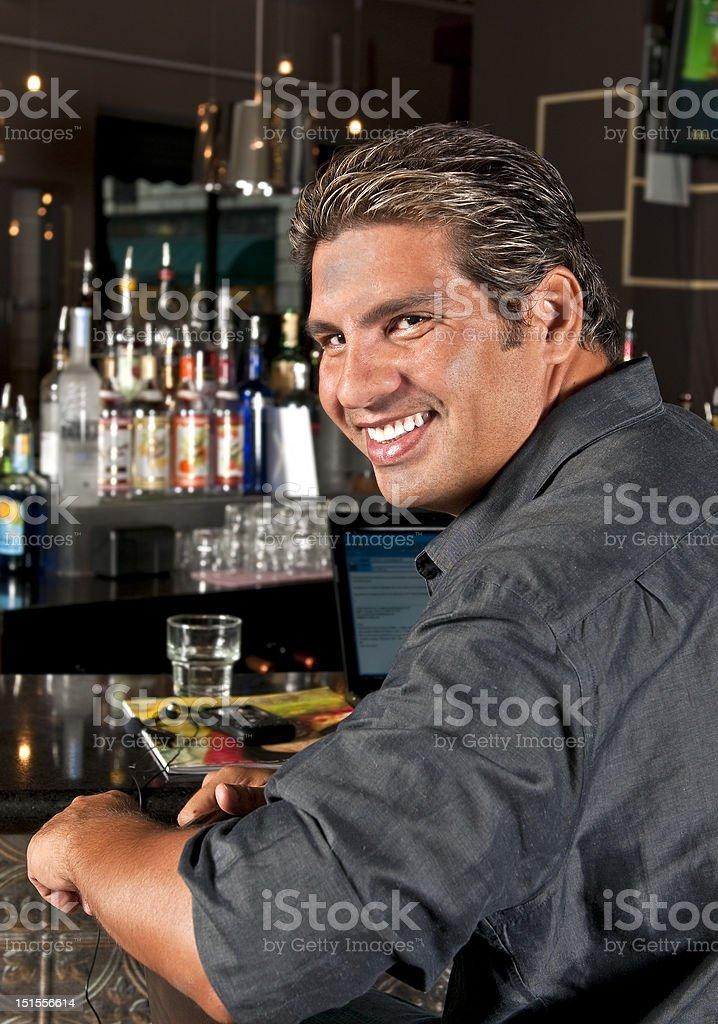 Man at the bar royalty-free stock photo