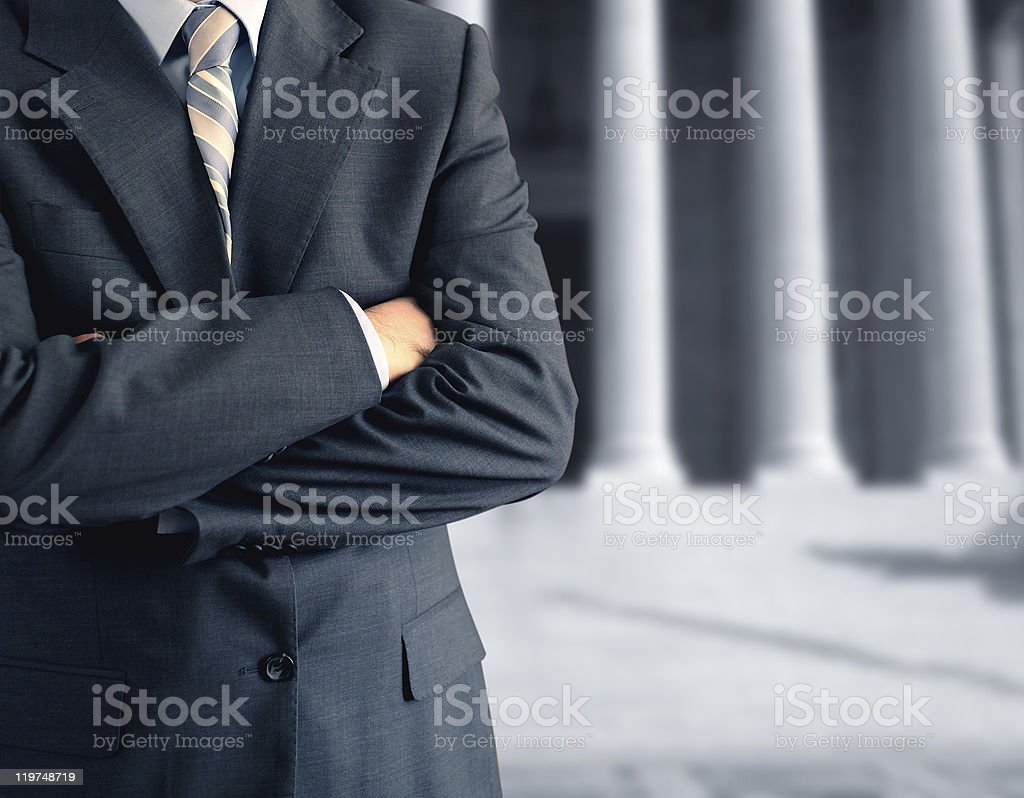 man at the courthouse stock photo