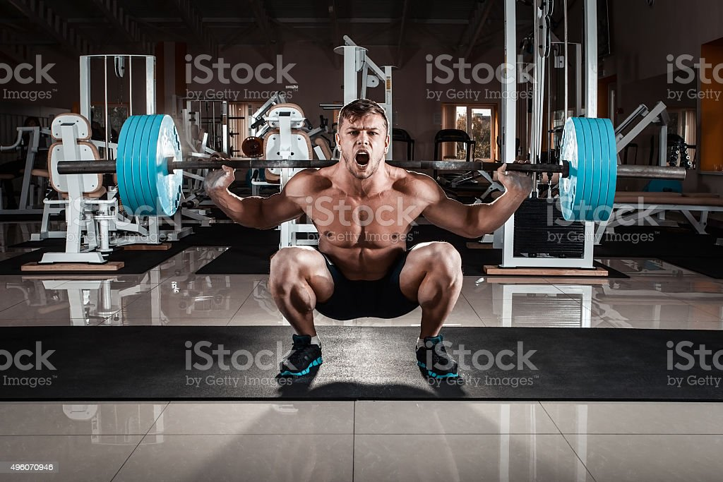 Man at the gym stock photo