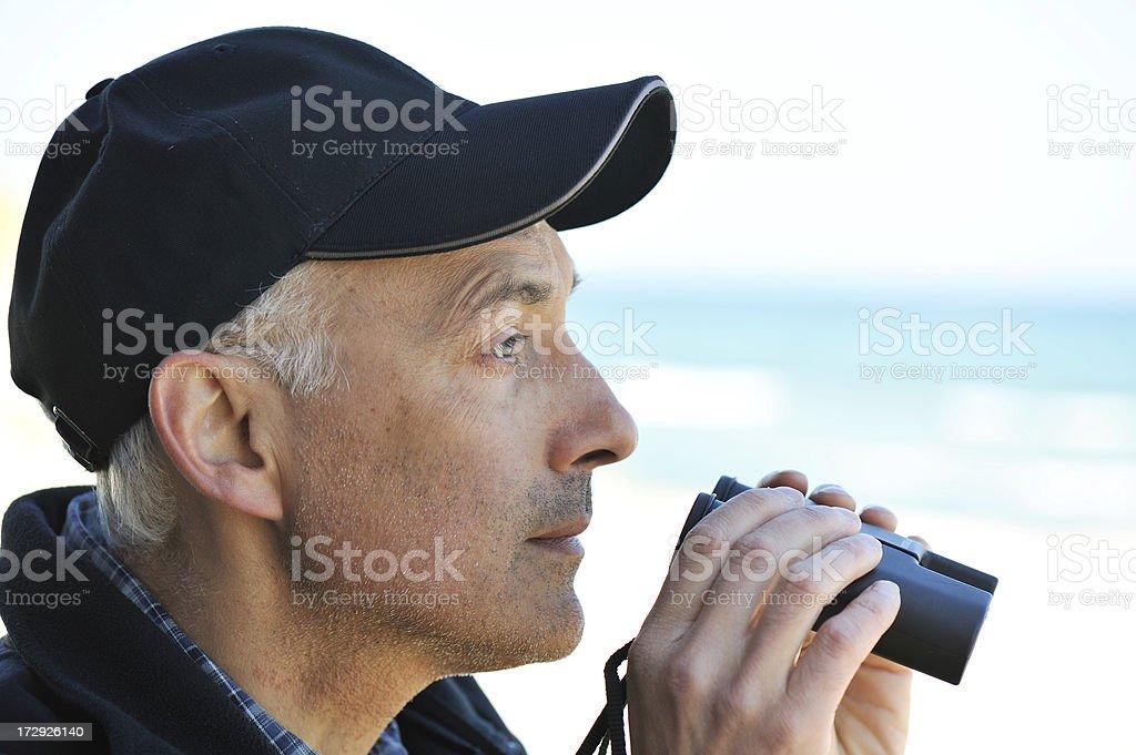 Man at the sea stock photo