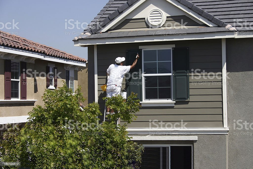 Man at Work 20 series stock photo