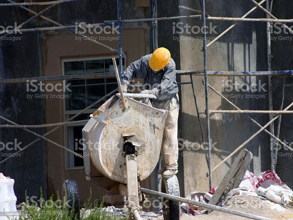 Man at Work 5 series royalty-free stock photo