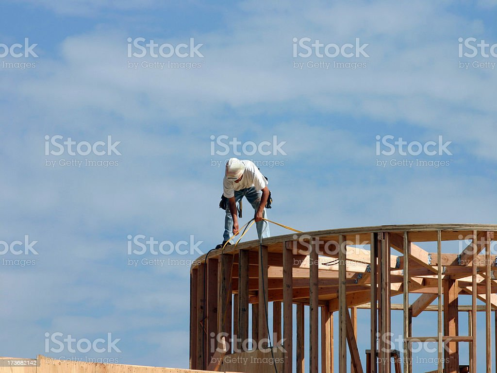 man at work 8 series royalty-free stock photo
