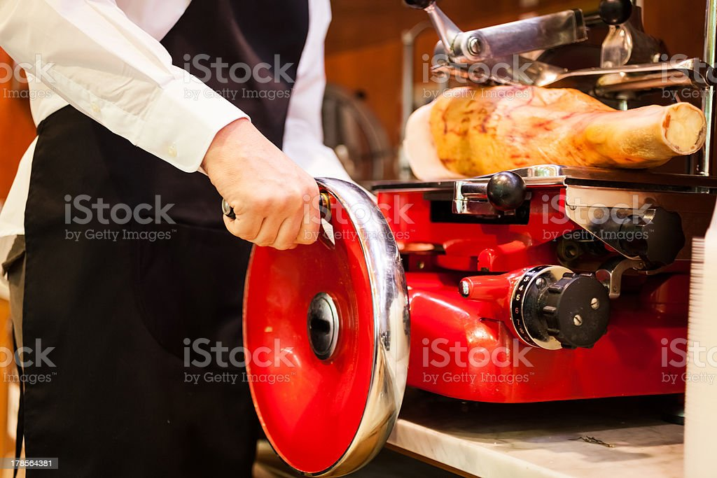 Man at work in a grocery store royalty-free stock photo