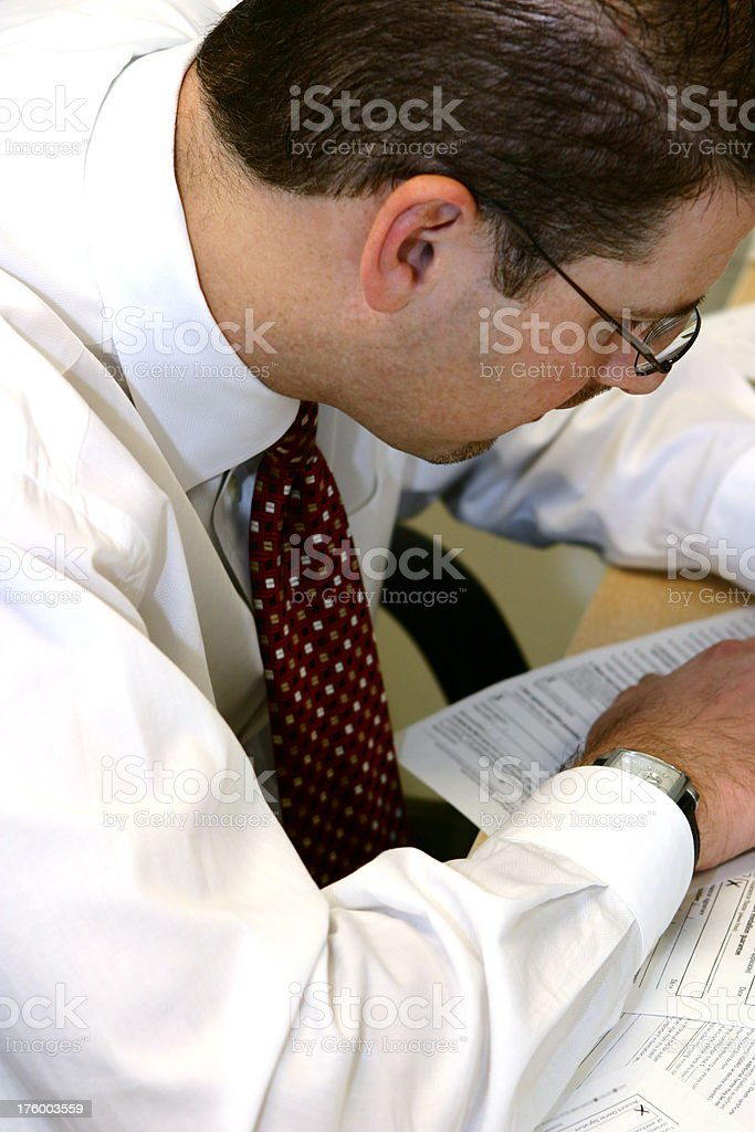 Man at work royalty-free stock photo
