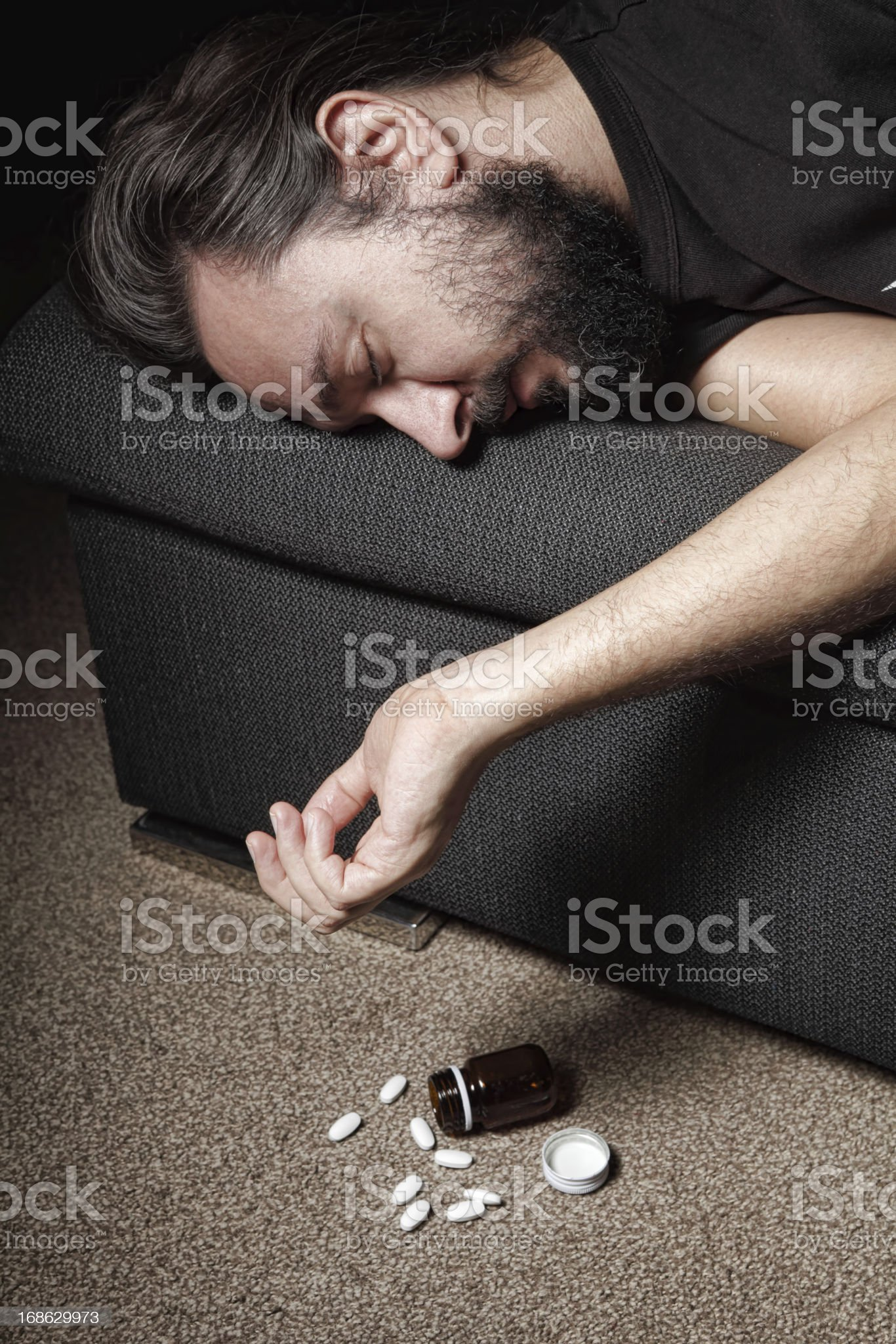 man attempting suicide royalty-free stock photo