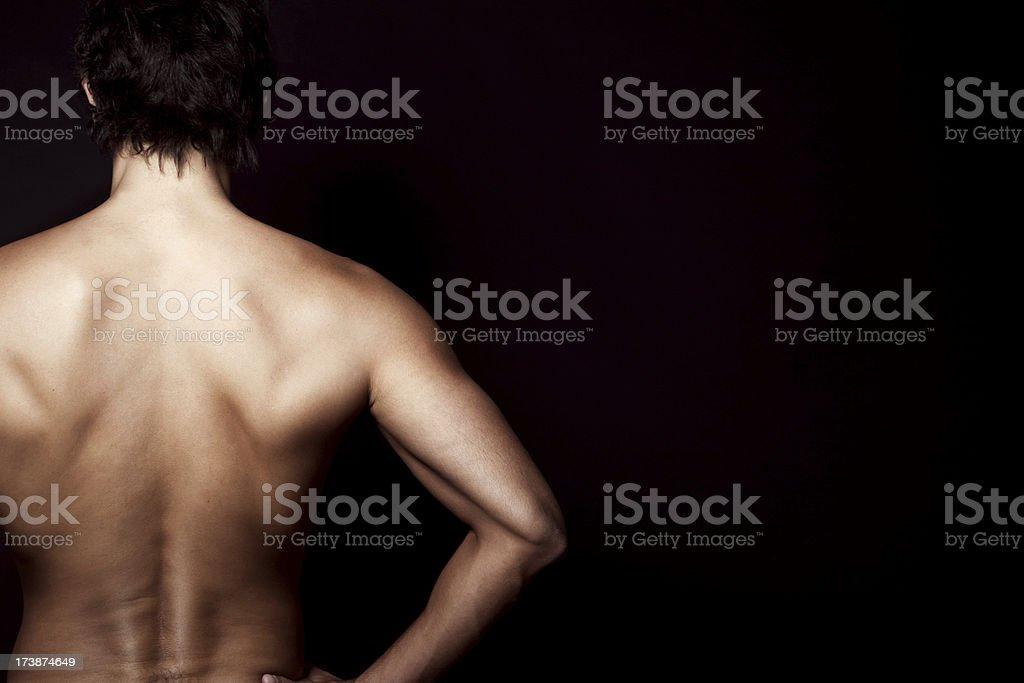 Man Back royalty-free stock photo