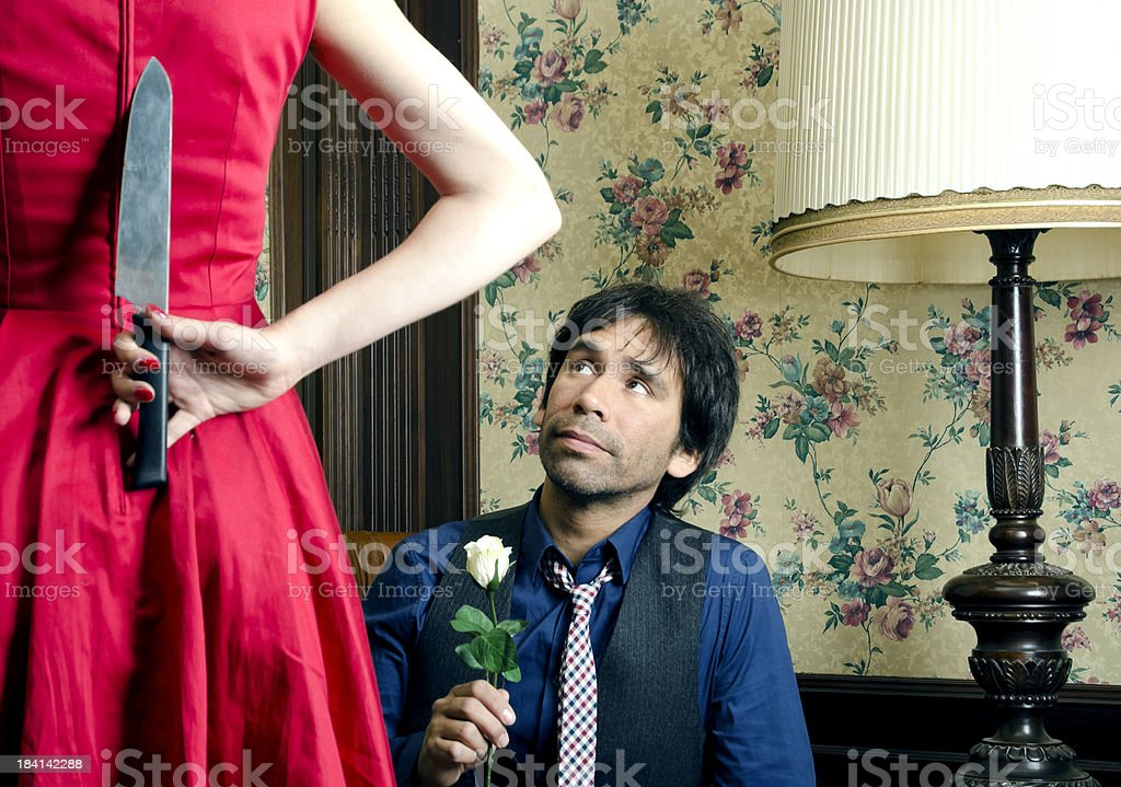 Man begging for mercy stock photo
