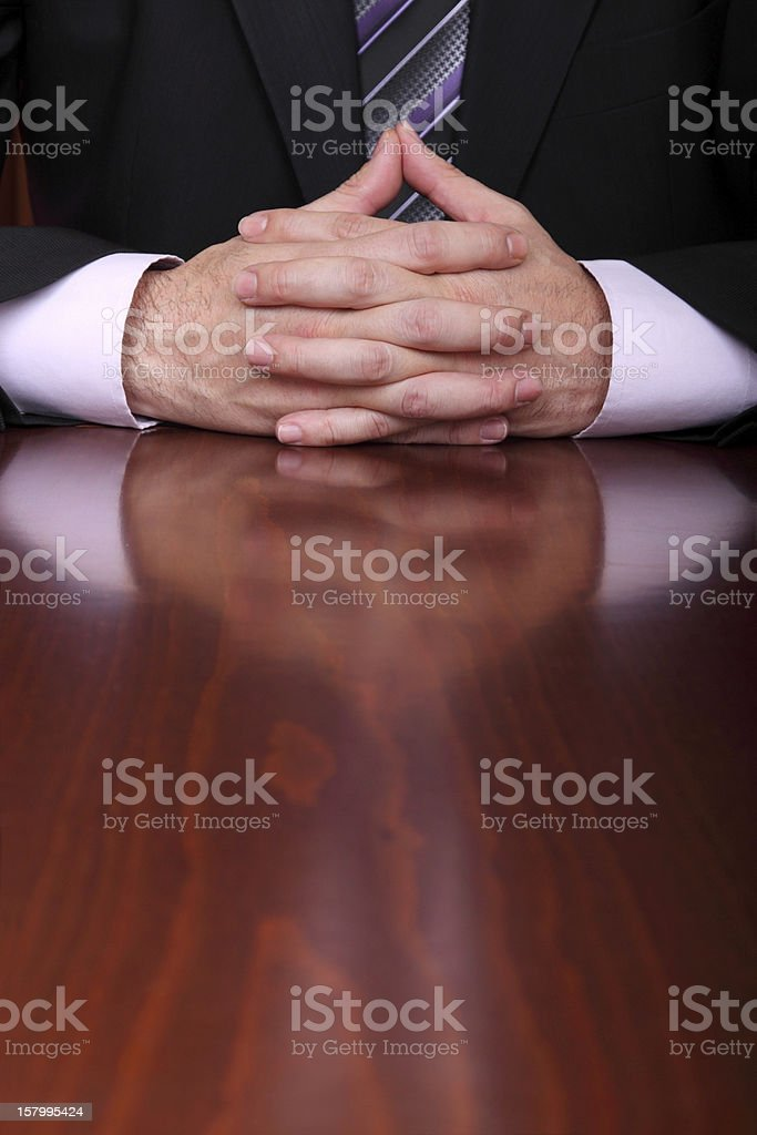 man behind the office desk royalty-free stock photo