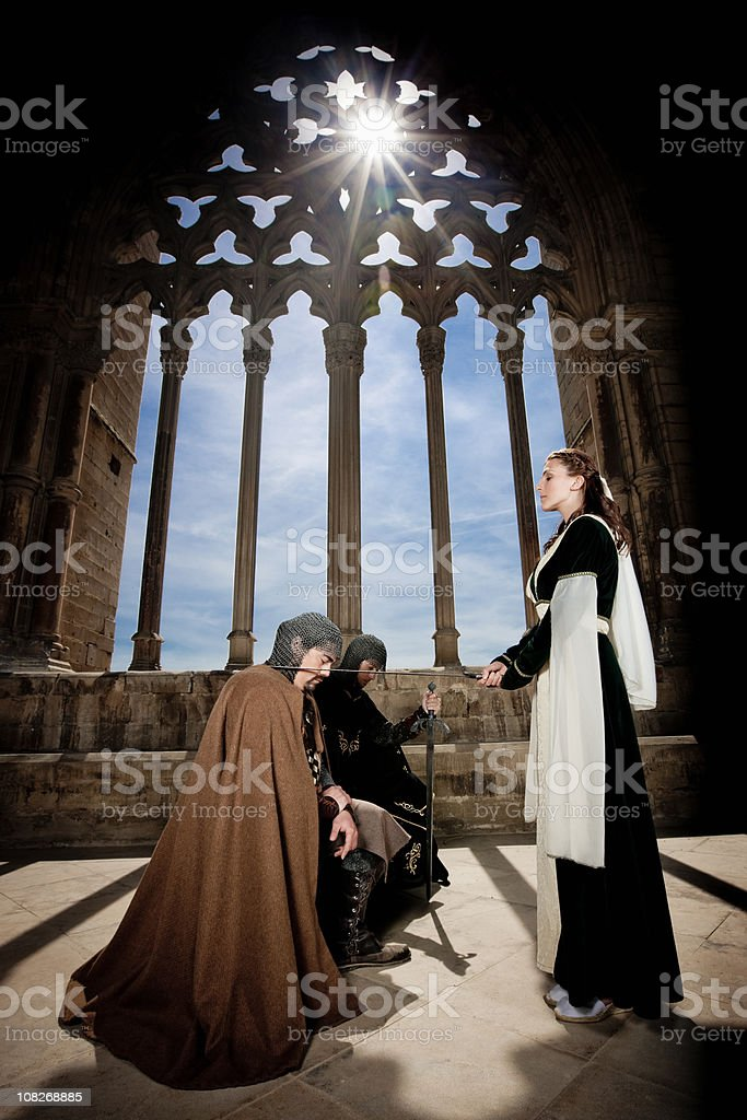 Man Being Knighted stock photo
