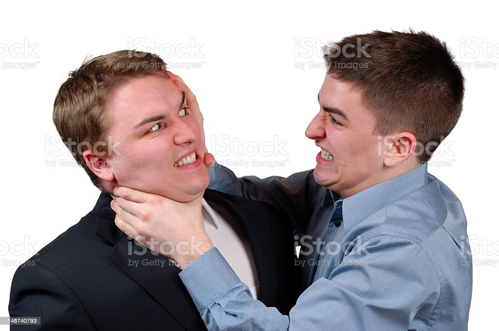 Man Being Strangled stock photo